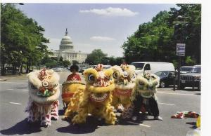 Lucky Lions Strolling on Pennsylvania Avenue NW