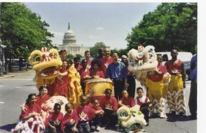 Lucky Lions backup crew on Pennsylvania Avenue NW