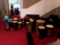 Djembe Drums Ready